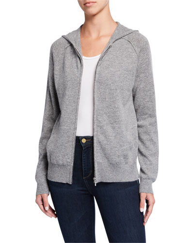 Cashmere Zip Hoodie Sweater