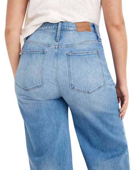 "Madewell 10"" High-Rise Wide-Leg Crop Jeans"