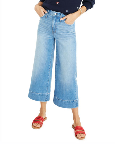 10 High-Rise Wide-Leg Crop Jeans