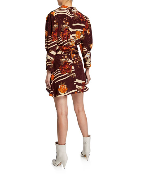 Image 2 of 2: Dodo Bar Or Laura Floral Silk Mini Dress