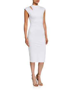 8389242c5ee7 Alice + Olivia Delora Mock-Neck Cutout Dress