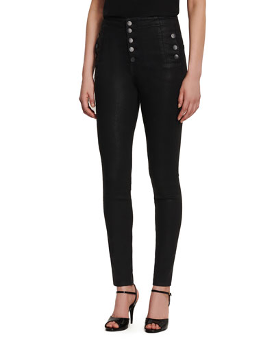 Natasha High-Rise Coated Skinny Jeans