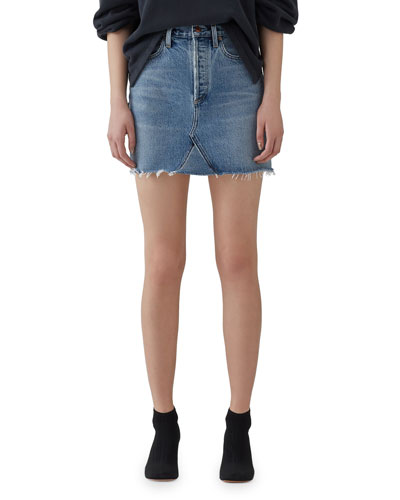 Ada High-Rise Denim Skirt