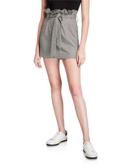 Alice + Olivia Zoya Belted Paperbag Mini Skirt