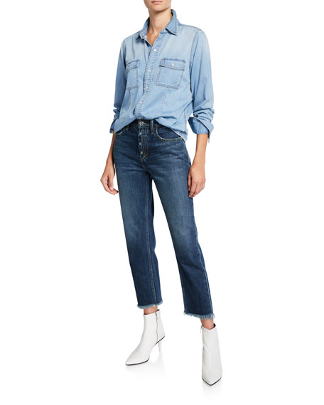 Current/Elliott The Exposed Fly Vintage Cropped Jeans