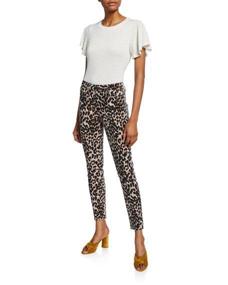 PAIGE Hoxton Ankle Skinny Jeans with Raw Hem