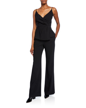 7bcce1a5 Black Halo Raja Two-Piece Jumpsuit Set