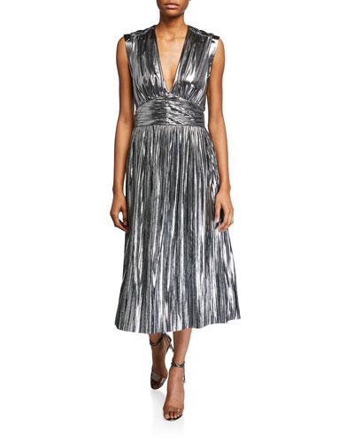 Briella Metallic Cocktail Dress