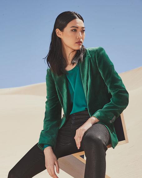Kobi Halperin Lois Long-Sleeve Silk Blouse