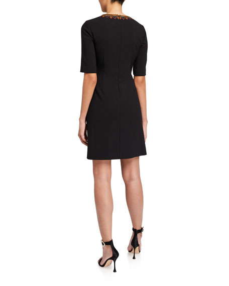 Kobi Halperin Chelsea Elbow-Sleeve Wrap Dress