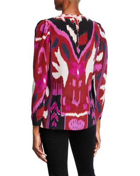Kobi Halperin Catt Abstract Silk Blouse