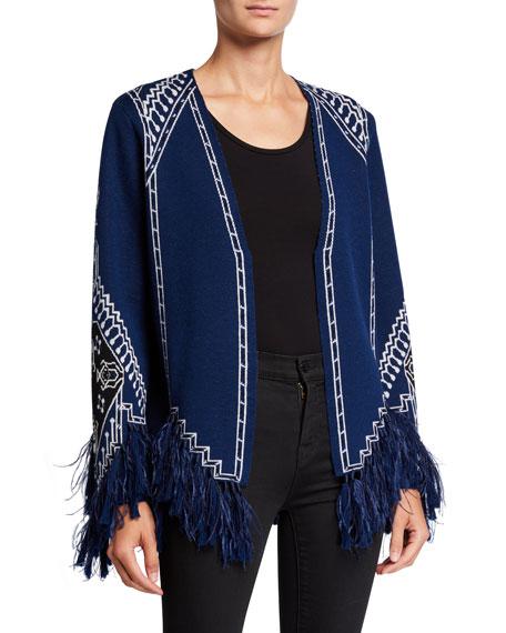 Kobi Halperin Martha Wool Sweater with Feathers