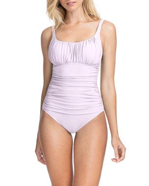 a53313c8c1c5b Profile by Gottex Tutti Frutti Ruched One-Piece Swimsuit