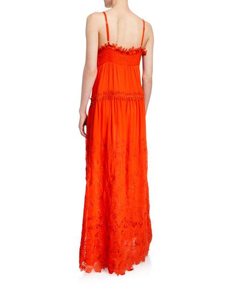 Ramy Brook Genine Embroidered Sleeveless Maxi Dress