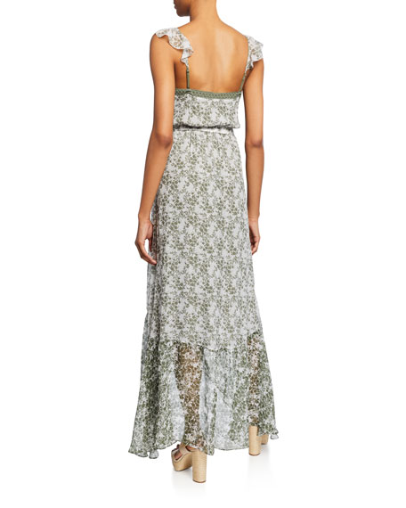 Ramy Brook Schena Printed High-Low Dress