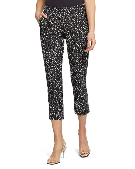NIC+ZOE Scribble Pull-On Capri Pants
