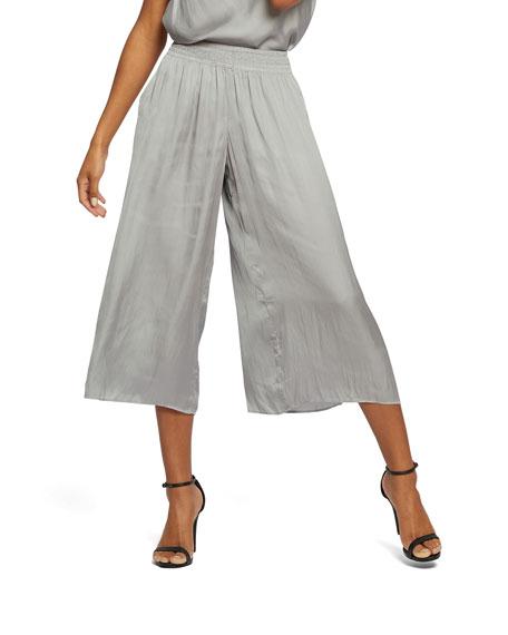 NIC+ZOE Destination Pocket Wide-Leg Crinkle Crop Pants