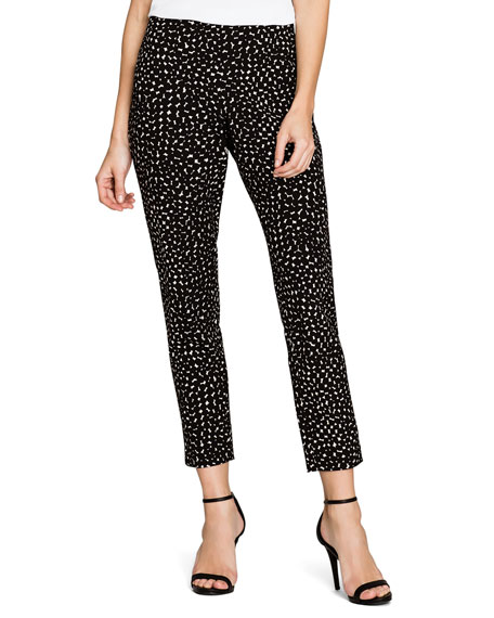 NIC+ZOE Dusk Dot-Print Slim Ankle Pants