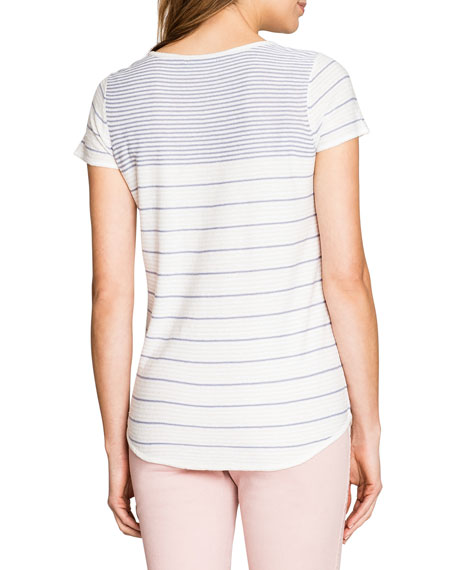 NIC+ZOE Cabana Striped Short-Sleeve Top
