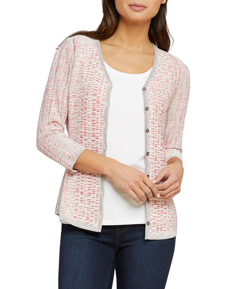 NIC+ZOE Tubular Sunset Button-Front Reversible Cardigan