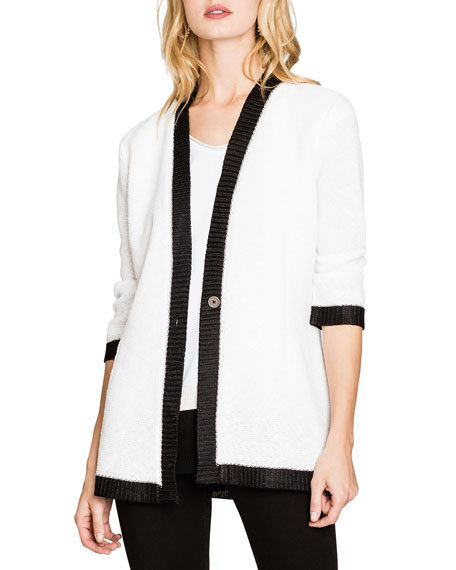 NIC+ZOE Day Glow One-Button Cardigan