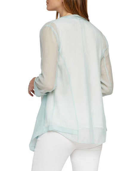 NIC+ZOE Spring Forward Sheer Open-Front Jacket