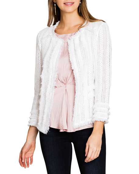 NIC+ZOE Plus Size Playful Fringe Jacket