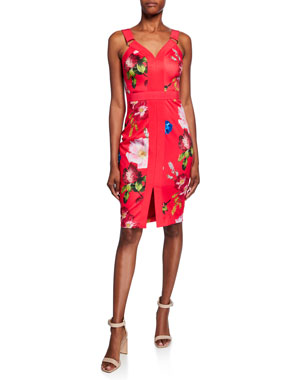 948a8a469be Ted Baker London Berry Sundae Floral-Print Sleeveless Body-Con Dress