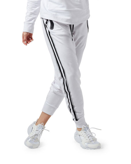 Blanc Noir Gia Striped Active Joggers