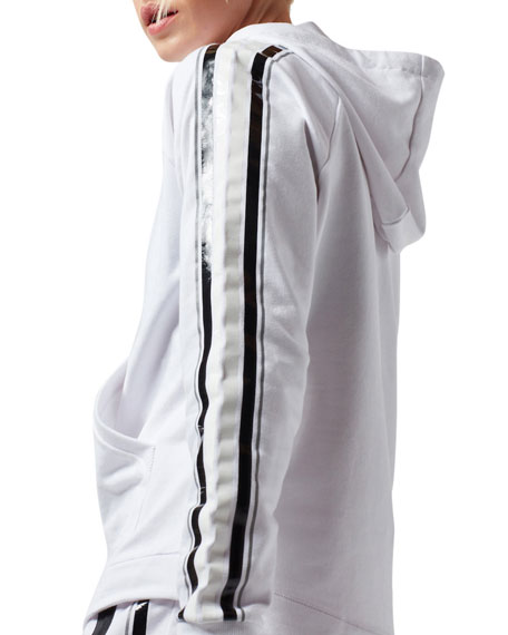 Blanc Noir Sporty Striped Active Hoodie