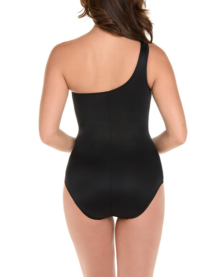 Miraclesuit Network Jena Shirred One-Shoulder One-Piece Swimsuit