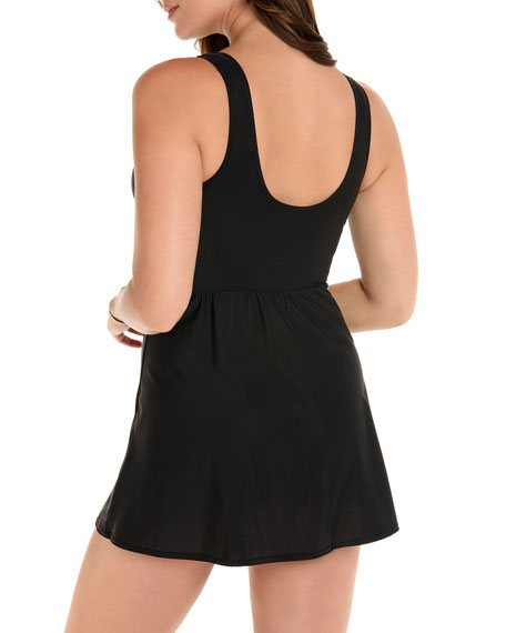Image 2 of 2: Miraclesuit Marais Twist-Front One-Piece Swimdress