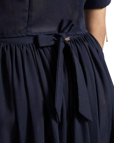 Amaio Delphine Tiered Cotton Long Skirt