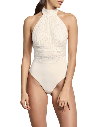 Rene High-Mesh Maillot One-Piece Swimsuit