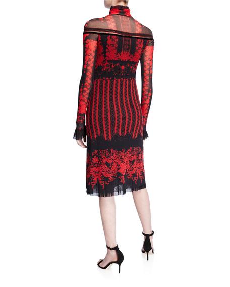 Fuzzi Andalusia Long-Sleeve Turtleneck Dress