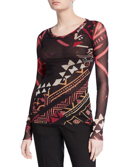 Fuzzi Geometrico Long-Sleeve T-Shirt