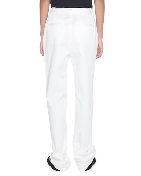Tibi Sebastian High-Rise Dominic Twill Pants