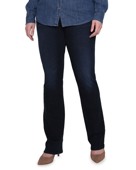 James Jeans Plus Size Straight Hunter High-Rise Jeans
