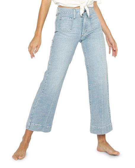 James Jeans Caroline Patch Pocket Wide-Leg Jeans