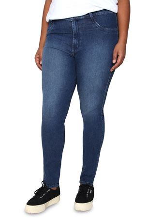 James Jeans Plus Size High-Rise Skinny Ankle Jeans