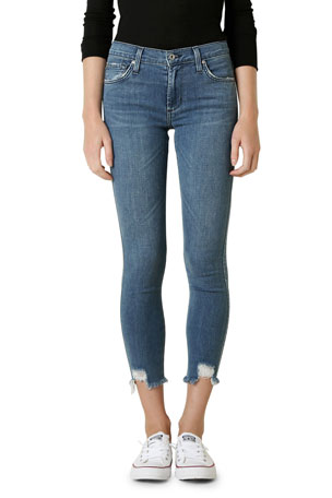James Jeans James Twiggy Ankle Denim Leggings with Chewed Hem