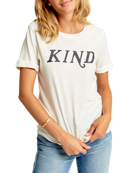 Sol Angeles Kind Crewneck Rolled Short-Sleeve Cotton T-Shirt