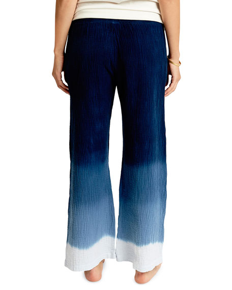 Sol Angeles Ombre Wide-Leg Crepe Pants