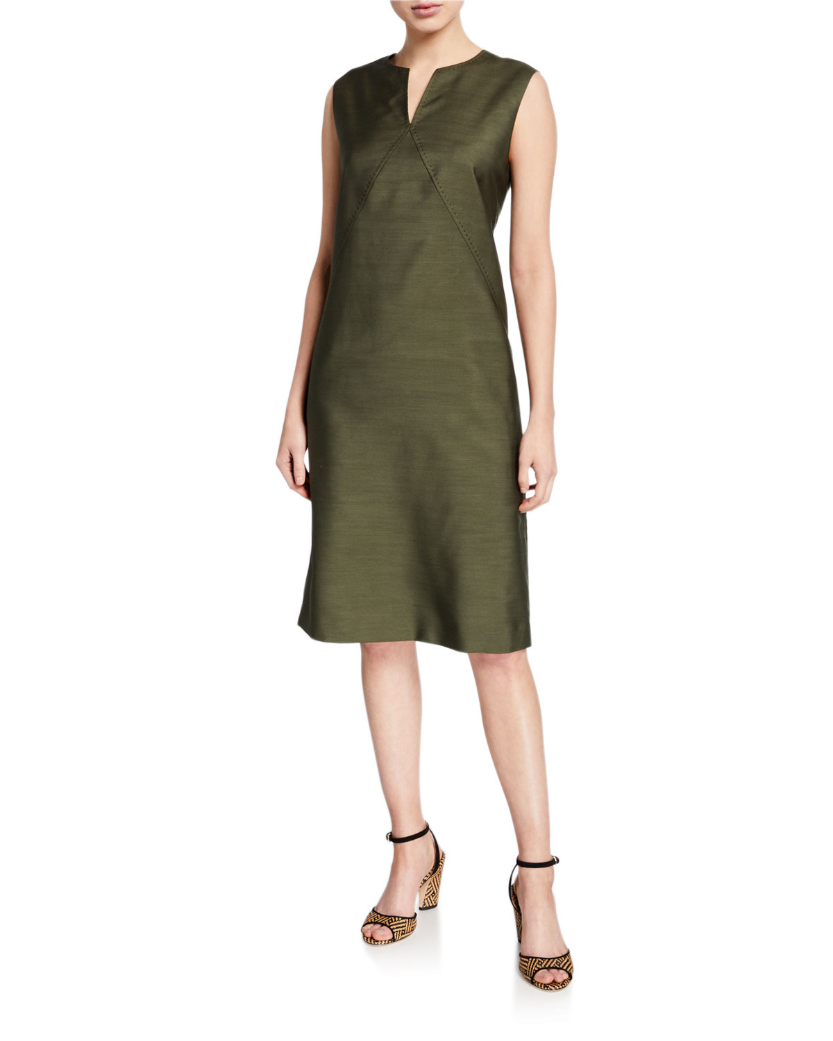 Millie Gateway Cloth Sleeveless Dress by Lafayette 148 New York