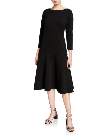 Lafayette 148 New York Martha Punto Milano A-Line Dress