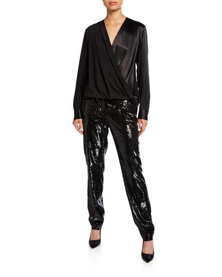Lafayette 148 New York Manhattan City Sequins Slim Pants