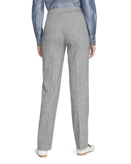 Lafayette 148 New York Barrow Speckled Herringbone Pants