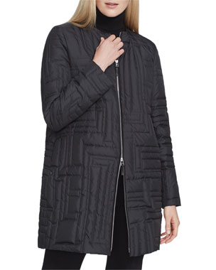 6c911ddb899c Lafayette 148 New York Abdulla Alpine Outerwear Coat with Embroidered Detail