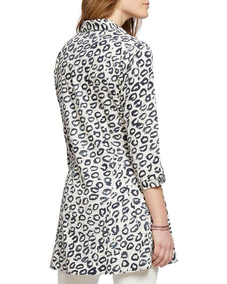 NIC+ZOE Leopard Kisses Button-Front Shirt Jacket