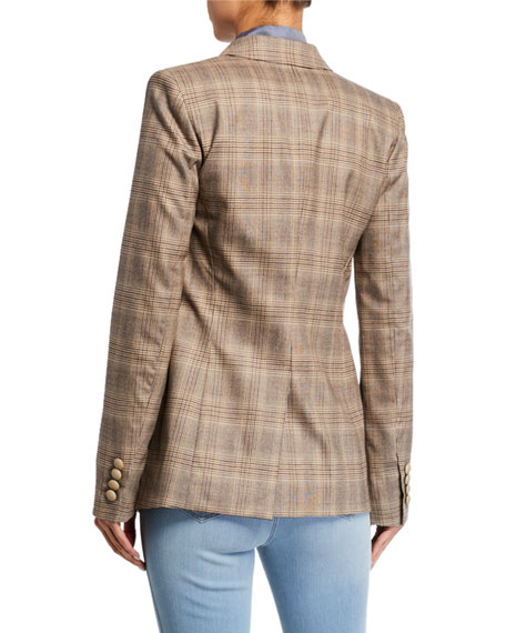 Image 3 of 3: Lafayette 148 New York Virginia Primary Plaid One-Button Blazer